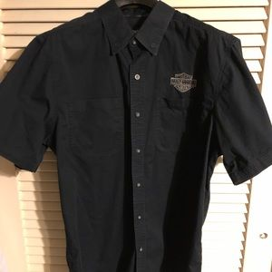 Men's Harley Davidson Black button down XL shirt